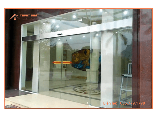 Cửa kính tự động tại Tây Ninh được lắp đặt tại nhiều địa điểm