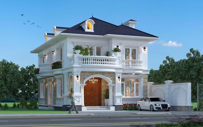 Thiết kế biệt thự mini theo phong tân cổ điển